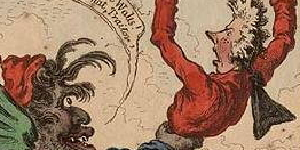 hogarth and james gillray a comparison James gillray - 'the table's turned - billy in the devil's claws / billy sending the devil packing' much more influencial than hogarth or goez were the thousands of british political cartoons most were just that, cartoons, meaning single image jokes.